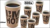 500x Koffiebeker I am Hot 250cc