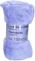 Lila fleece deken 130 x 150 cm