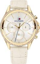 Tommy Hilfiger TH1781982 Horloge - Leer - Wit - Ø 38 mm