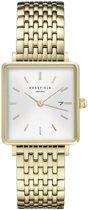 Rosefield The Boxy Dames Horloge - Goud Ø26 X 28mm - QWSG-Q09