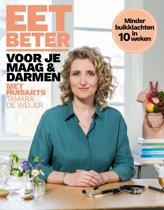 Boekomslag van 'Eet beter voor je maag en darmen met huisarts Tamara de Weijer'