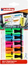 Edding mini markeerstift 7, blister met 5 stuks geassorteerde kleuren