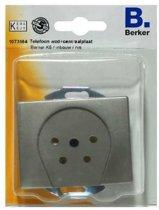 BERKER K5 telefoon wcd+centraalplaat, inbouw | RVS