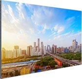 Skyline Peking Aluminium 30x20 cm - klein - Foto print op Aluminium (metaal wanddecoratie)