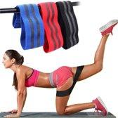 Set van 3 resistentiebanden – 3 maten: L,M,S - Fitness elastiek(en) - Weerstandsband(en) - Sport elastiek - Fitnessband - Squats - Deadlift enz.