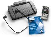 Philips PocketMemo Dicteer- en transcriptieset DPM6700, Stereo, Druktoetsen, USB voetpedaal, SpeechExec Dictate/Transcribe 2-jaar licentie