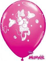 Minnie Mouse ballonnen 6 stuks - Minnie Mouse kinderfeestje ballonnen