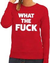 What the Fuck tekst sweater rood voor dames S