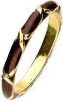 Hidalgo ring Bruin geëmailleerd