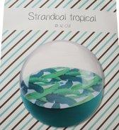 Strandbal tropical - Strandbal opblaasbaar - Strandbal Ø 32CM - Strandbal groen