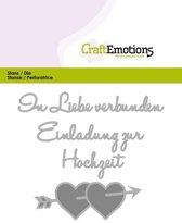 CraftEmotions Mal Tekst - In Liebe verbunden Duits  Card 11x9cm
