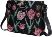 Signare Schoudertas - Tulip black - Jacob Marrel | Tulp | Tulpen