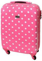 Karry Handbagagetrolley - Roze met witte stippen - 55cm - 30l - 813