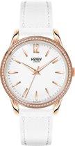 Henry London Pimlico HL39-SS-0114 - Horloge - Dames - 39mm - Leer - Wit