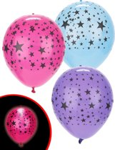 Illooms LED Ballonnen Mixed Stars - 5 Stuks