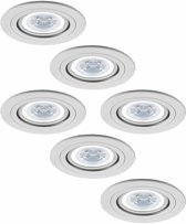 Philips Pittsburg - Inbouwspots - LED - Ø91mm - Wit - Aluminium - Set 6 spots