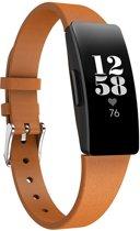 KELERINO. Leren band voor Fitbit Inspire (HR) - Bruin