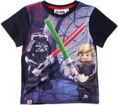 LEGO-Star-Wars-T-shirt-met-korte-mouw-zwart - Maat 116