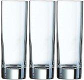 3x Longdrinkglazen 220 ml - 22 cl - Longdrink glazen - Water/sapglazen - Longdrink glazen van glas