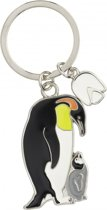 Metalen pinguin sleutelhanger 5 cm