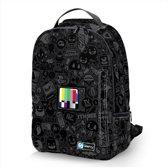 Laptop rugzak 17,3 Deluxe tv symbolen zwart - Sleevy - schooltas