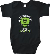 Romper Handsome little monster (zwart 3 - 6 maanden)