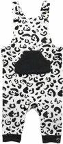 Jollein salopette Leopard Black & White Maat 62/68