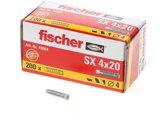 Fischer S x  Plug S x 4 x 20 - 200 Stuks