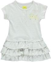 Losan meisjeskleding-witte jurk met roezellagen - P54 - Maat 92