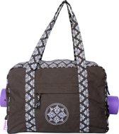 Flowee yogatas voor yogamat - Luxe - Grijsbruin met symbool