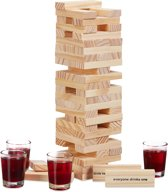 relaxdays stapeltoren drankspel - Drunken Tower - wiebeltoren - drinkspel - hout