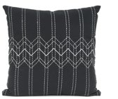 Pt Sierkussen Stitched Flow square - Black with Mouse grey