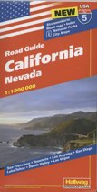 Hallwag USA California Nevada Road Map