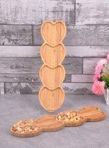 Sener paci Snack- & Tapasschalen - Bamboe - Hartvormig - Groot