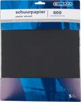 Elma schuurpapier fijn - 5 vel - waterproof