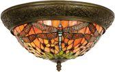 Clayre & Eef Plafondlamp tiffany libelle compleet 19 x � 38 cm