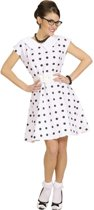 Witte jaren 50, retro jurk voor dames  - Verkleedkleding - Medium