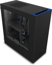 NZXT S340 Full-Tower Zwart, Blauw computerbehuizing