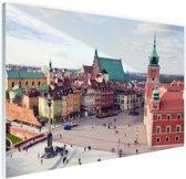 Warschau historisch centrum Glas 30x20 cm - Foto print op Glas (Plexiglas wanddecoratie)