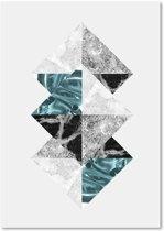 Schilderij - Drie gekantelde vierkanten
