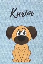 Karim Notizbuch Hunde / Malbuch / Tagebuch / Journal / DIN A5 / Geschenk: individuelles personalisiertes blanko Jungen & M�nner Namen Notizbuch, ... W