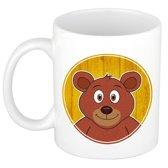 1x Beer beker / mok - 300 ml - beren dieren bekers voor kinderen