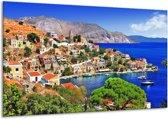 Canvas schilderij Uitzicht | Blauw, Oranje | 120x70cm 1Luik