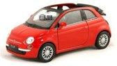 Fiat 500 C 2007 Welly pullback 1:34 12st