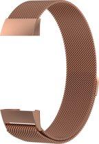 FitBit Charge 3 Milanees Bandje Rose Gold  - Small - Exclusief Italiaans design - fitbit charge 3 bandje - Met magneetsluiting -Roestvrij staal -  inclusief GARANTIE! - Cadeautip! Met Luxe verpakking