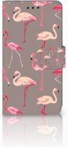 Huawei P20 Uniek Boekhoesje Flamingo