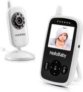HelloBaby HB24 Babyfoon met camera | Video babyphone | Terugspreken | Temperatuurcontrole | Slaapliedjes | Nachtzicht | Zoomfunctie