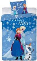 Disney Frozen Ice - Dekbedovertrek - Eenpersoons - 140 x 200 cm - Blauw