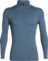 Icebreaker BF 260 Tech LS Half Zip - Heren - Thermoshirt - Blauw