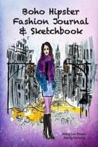 Boho Hipster Fashion Journal & Sketchbook